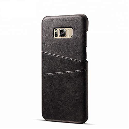 Funda de piel sintética para Samsung Galaxy S8 con tarjetero integrado, color negro