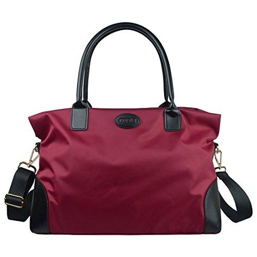 ECOSUSI Weekend Bag Women Weekender Bag Ladies Overnight Bag Tote Duffel Bag Holdall Ladies Travel Bag Men Large Capacity Gym Bag Carry-on 25L
