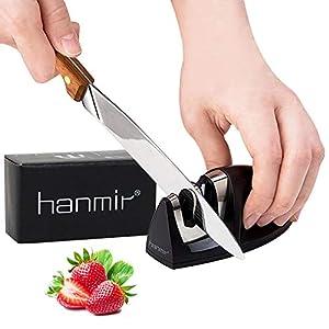 41JwNCZ5 iL. SS300  - hanmir Afilador Cuchillos Profesional Afilador Cuchillos de Cocina de 2 Etapas, Varilla de Cerámica y Hoja de Acero de…