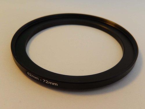 vhbw Adaptador de Filtro Step up 62mm-72mm Negro para cámaras Sony DT 18-135 mm D3,5-5,6 Sam (SAL-18135)