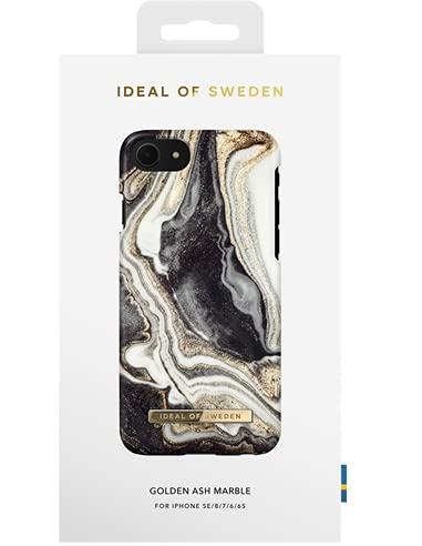 IDEAL OF SWEDEN IDFCGM19-I7-166 - Fashion Case - Golden Ash Marble - für Apple iPhone 6(S), Apple iPhone 7, Apple iPhone 8, Apple iPhone SE (2020)
