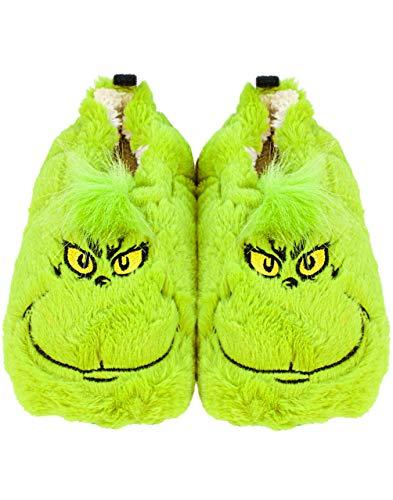 Die Grinch Pantoffeln Kids Soft Fur House Hausschuhe Geschenk für Jungen & Mädch