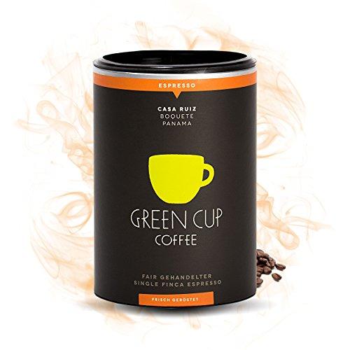 Green Cup Coffee Casa Ruiz - der fair gehandelte Arabica Espresso aus Panama - Gourmet Espressobohnen aus der ganzen Bohne - für Kaffeevollautomat geeignet - 227g ganze Bohnen