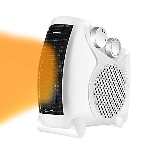 YQYJX Portable Electric Fan Heater Flat/Upright with 2 Heat Settings and Cool Air Setting,Space Heater