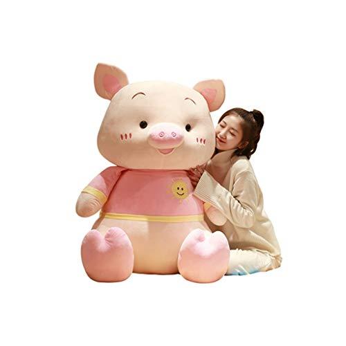 HUOQILIN Peluche Gros Cochon Poupée Poupée Poupée Oreiller Cadeau d'anniversaire Mignon (Color : 1, Size : 60cm)