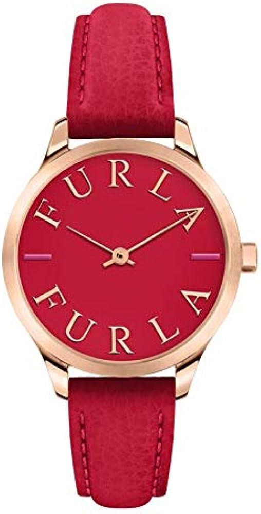 Furla, orologio per donna,con cinturino in pelle e cassa in acciaio R4251124507