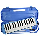 blueberry Melodica 37 Keys Piano Instrument Soprano Air Piano with Mouthpiece with Hard ABS Case for...