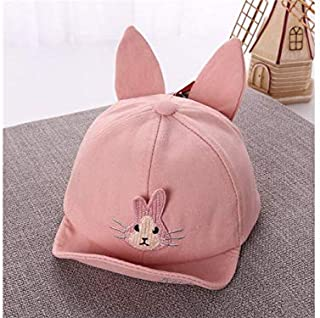 Baby Decoration Hat Rabbit Ear Baby Cotton Cap Kids Sun Protection Hat Sun Visor for 6-20 Months(Blue) Cute Cap (Color : Pink, Size : 46-50cm)