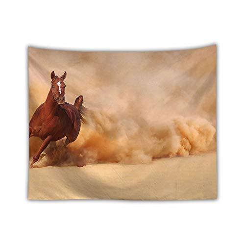 MRR wandtapijt, kunststof, mandala, Boheemse woestijnpaard psychedelische wandtapijten voor woonhuis, slaapkamer, deur, kamerdecoratie