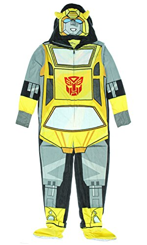 Transformers Bumblebee Adult One-Piece Hooded Pajama (XX-Large)