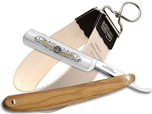 Rasiermesser Set aus Solingen Made in Germany mit Holzgriff Rasier-Set mit Rasiermesser und Streichriemen von InstrumenteNRW mit Sitz in Deutschland