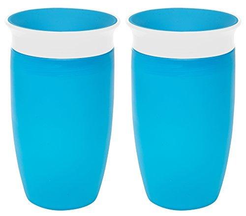 Miracle 360 Degree Sippy Cup Blue, Beker - 296ml - Blauw - Pak Van 2