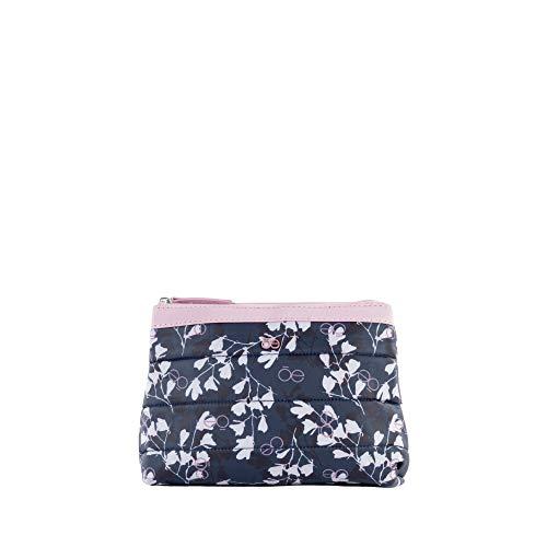 Cloe - Cosmetiquera Mediana Color Marino para Mujer Estampado Floral