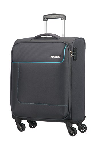 American Tourister Funshine Spinner Hand Luggage 55 cm, 36 L, Grey (Sparkling Graphite)