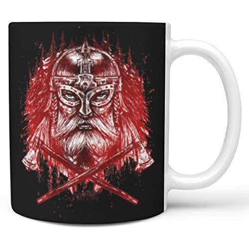 O2ECH-8 11 Unze Mug Glatte Keramik Retro Style Becher Tasse - Weihnachten Geschenke White 330ml