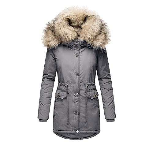 Cappotto da donna nero con tasche con cappuccio invernale in cotone, a maniche lunghe, con cerniera, giacca trapuntata con tasche, giacca leggera a vento