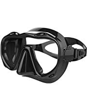 AMERTEER 2020 Anti-Fog Tempered Glass Snorkel Mask for Women and Men, for Snorkeling, Swimming and Scuba Diving, Anti Leak Dry Top Snorkel Gear Panoramic Silicone Goggle No Leak