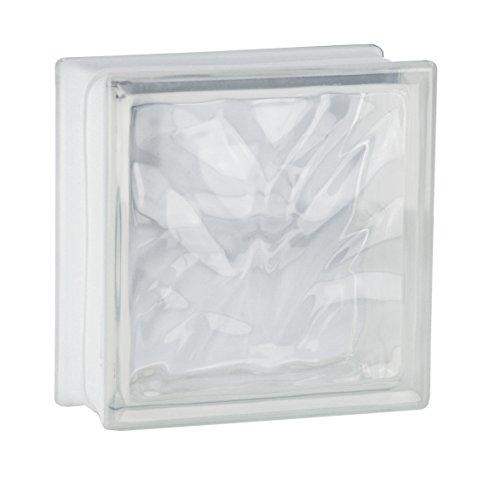 5 piezas FUCHS bloques de vidrio nube neutro 19x19x8 cm