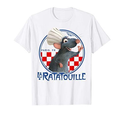 Disney Pixar Ratatouille Remy Chef Hat Portrait Graphic Tee T-Shirt