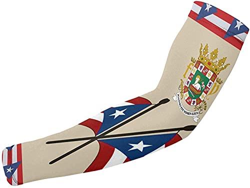 Armstulpen| Puerto Rico Flagge Arm Ärmel Abdeckung Outdoor Fahrrad Baseball Sport Kompression Arm Ärmel para Erwachsene UV-Schutz Sonne Arm Abdeckungen 1 Paar