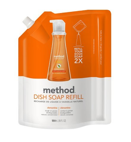 Natural! Method Dish Soap Refill Clementine36.0 fl oz(2pk)