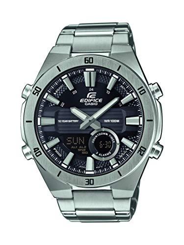 Casio EDIFICE Reloj en caja sólida, 10 BAR, Negro, para Hombre, con Correa de Acero inoxidable, ERA-110D-1AVEF