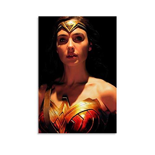 DRAGON VINES Diana-Wonder Woman Gal Gadot - Póster de dibujos animados (40 x 60 cm)
