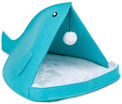 nobrand lichtgewicht comfortabel huisdier bed, wasbaar haai huisdier huis met opknoping haarbal huisdier bed voor honden & katten puppy slaapzak kussen kussen bed, 40CM X 60CM X 40CM, B
