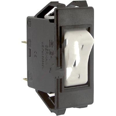 E-T-A Circuit Protection and Control 3120-F311-P7T1-W02D-1A, Circuit Breaker; Therm; Rocker; Cur-Rtg 1A; Snap-in Frame; 1 Pole; Blade Snap; Thermal