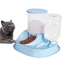 ペット自動飲料水フィーダー2 in 1、防滴および漏れ防止、厚くて耐久性のある大容量