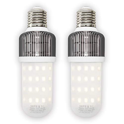 GLÜCKZEI E27 LED Glühbirne, 18W 2520LM Statt 200W Glühlampe, Hohe Lichtausbeute, LED Lampe Stabform, 3900-4080K, 2er Pack, (Neutralweiß (4000 Kelvin))