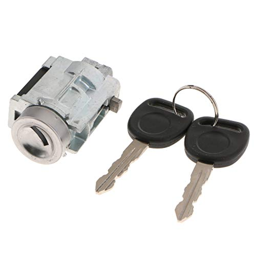 Hotaluyt Door Lock Key Set 51217019975 Car Front Left Driver Door Lock Cylinder Replacement for E46 3 Series 2001-2006
