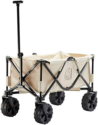 Nordisk Cotton Canvas Wagon - Carrito de equipaje, color natural