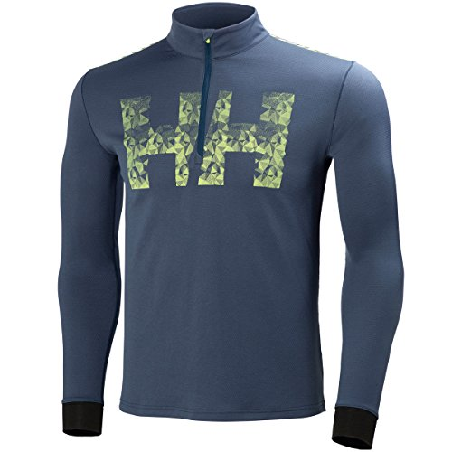 Helly Hansen Mens Active Débit 1/2 Zip Pull - Deep Bleu - S