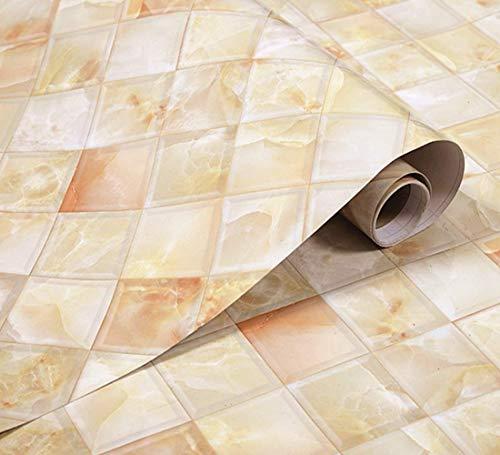 UPREDO Küchenfliesen Backsplash Marmor Kontaktpapier Granitoptik Arbeitsplatten Glänzende Vinylfolie Wasserdicht ölfest selbstklebend ablösbar 39,9 cm x 24,1 cm