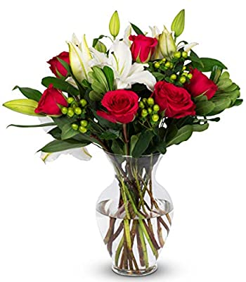 Benchmark Bouquets Pink Elegance, With Vase (Fresh Cut Flowers) by Kendal Floral Supply Llc - Dropship