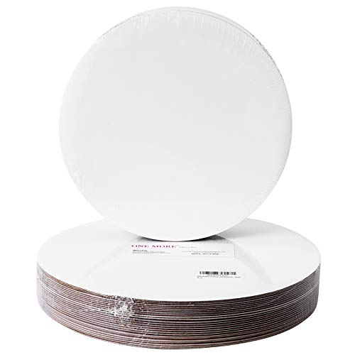 """[25pcs]12""""White Cakeboard Round,Disposable Cake Circle Base Boards Cake Plate Platter 12 inch,Pack of 25"""