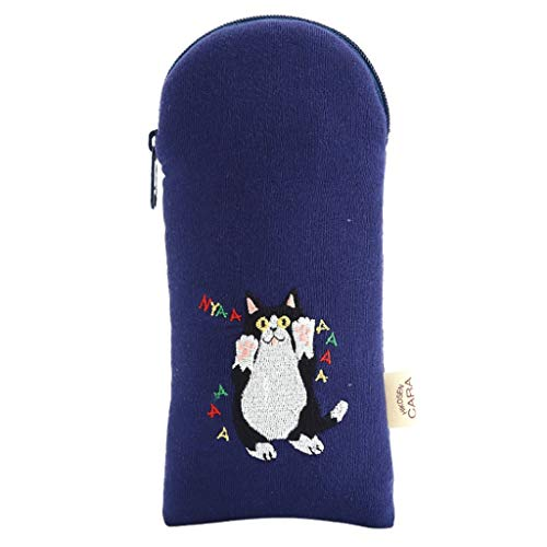 FRF Trousse de Toilette- Mini Bande Dessinée Kitty Cosmétique Sac d'embrayage Sac Bureau Étudiant Creative Sac Crayon Petit Sac (Color : Blue, Size :