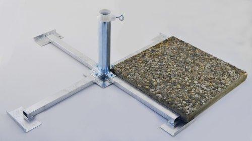 WEGEPLATTEN (40 x 40 cm) SONNENSCHIRMSTÄNDER - aus 4 mm Ø DEUTSCHEM STAHL - STABIELO - BIS 55 mm Ø - FEUER VERZINKTER PLATTENSTÄNDER aus Metall für GROSSSCHIRME zum Einlegen von BETONPLATTEN 40 x 40 cm - DER STABIELO ® SONNENSCHIRM PLATTENSTÄNDER für Schirmstöcke bis Ø 55 mm - MADE in GERMANY - Sonnenschirmhalter - HOLLY PRODUKTE STABIELO ® - INNOVATIONEN MADE in GERMANY - holly-sunshade ® - PREISE SO LANGE VORRAT REICHT - LIEFERUNG ohne PLATTEN - PRODUKTE MADE in BADEN WÜRTTEMBERG -