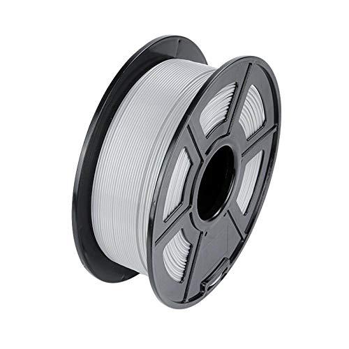 HANHAI PLA-Filament 1,75 mm, 3D-Druckfilament PLA für 3D-Drucker, 1 kg 1 Spule, grau