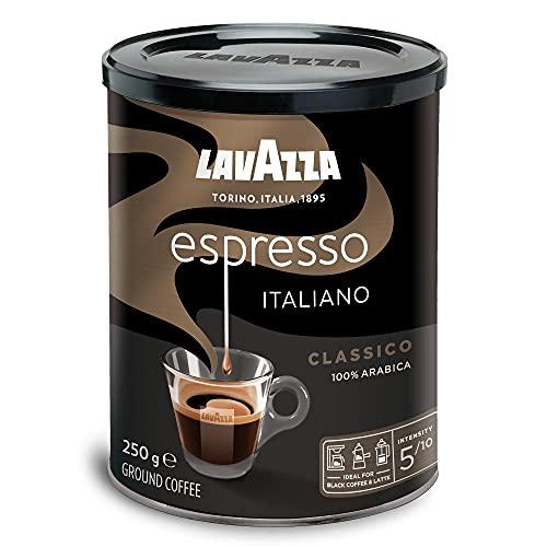 Lavazza Caffè Espresso Ground Coffee, Medium...