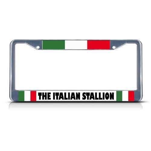 Fastasticdeals Italian Stallion Italy Flag License Plate Frame Tag Holder Cover
