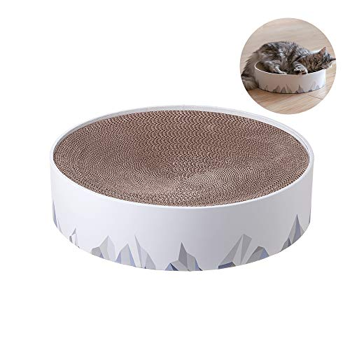 pidan Durable Cat Scratcher for Indoor Cats Cardboard 2in1 Cat Scratching Pad & Lounge - Cat Scratch Couch Bed with Geometric Pattern Modern Design-L