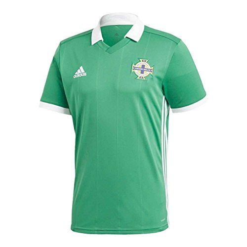 adidas Herren Nordirland Heimtrikot, Green/White, XS