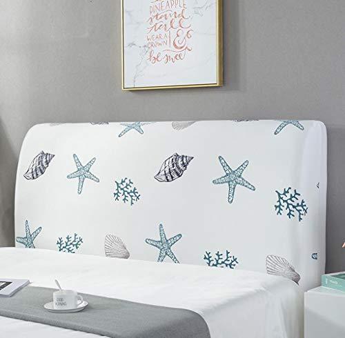 ZZX säng sänggavel överdrag skydd stretch dammtät sänggavel skydd sovrum dekor trä läder sänggavel ryggstöd dekoration tvättbar (färg: 15, storlek: 150 cm)