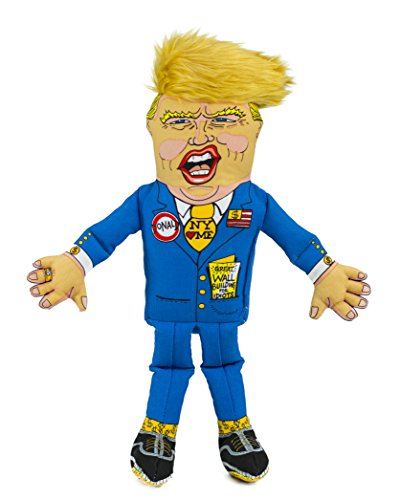 FUZZU Donald Trump Political Parody Novelty Dog Chew Toy with Squeaker - Large 17' Size Toy
