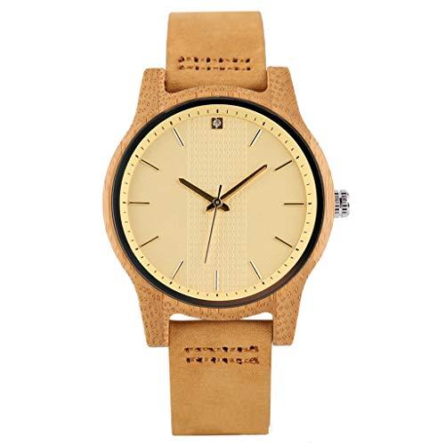 Mirar WHQ Reloj de Madera, Taladro de Punto Creativo Reloj de Mujer de Moda Simple, Reloj de Mujer Casual de Negocios romántico, Saludable y ecológico QD