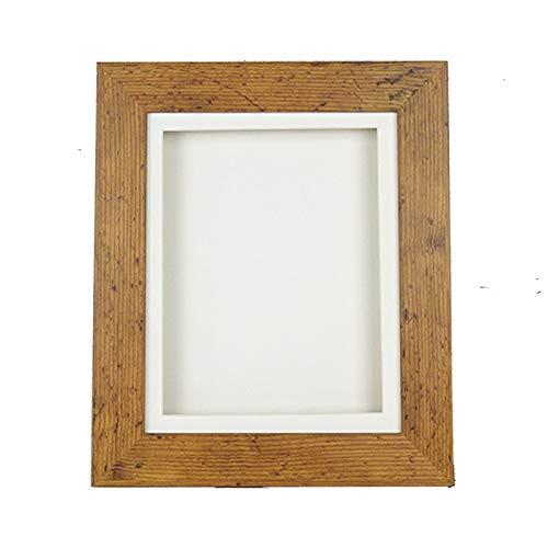 1' Deep Box Shadow Picture Frame Display 3D Memory Box Medals Scrabble + casts -A4-Medium Distressed Oak