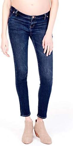 Ingrid Isabel Womens Maternity Skinny Jean with Inset Panel Faded Indigo product image