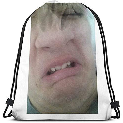 Niet van toepassing Trekkoord Rugzak Een goed beeld Voor U Trekkoord Rugzak Universele School Casual Reizen Cinch Tassen Sport Gift Fitness Bag Print Laptop